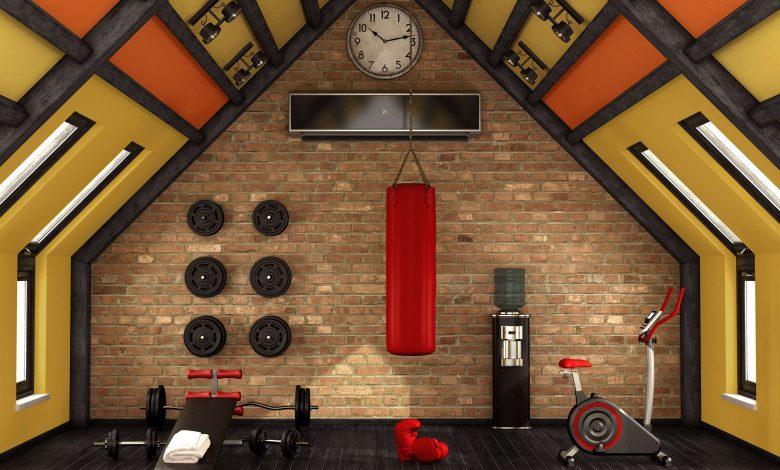 clean gym inside home
