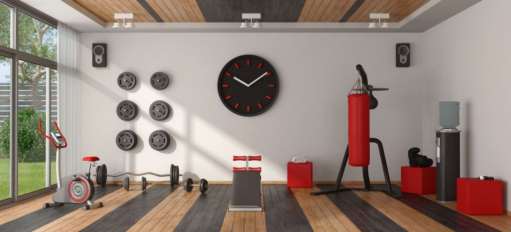 clean looking at home gym