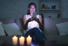 girl in the dark texting for snapchat sex