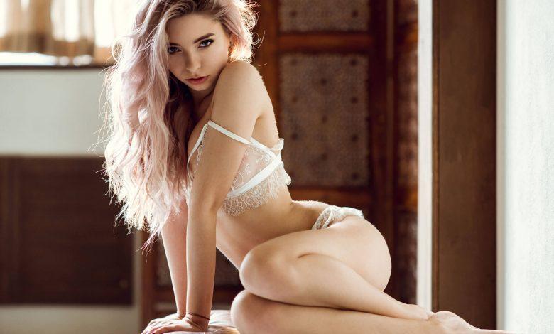 a snapchat slut in lingerie posing