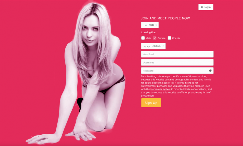 home page of fuck book website