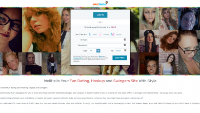homepage of wellhello dating site